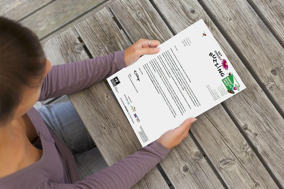 Dorset Wildlife Trust RPM React Buzzing Marketing Letter
