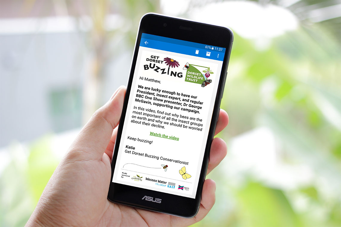 Dorset Wildlife Trust RPM React Buzzing Multi-Channel Communications Mobile Sms Bournemouth Poole